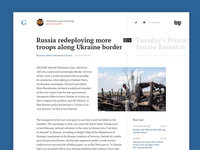 News Article typography grid clean white google article typo ui layout news reading read