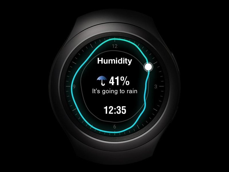 The Weather Channel Watch Face (all screens) twca samsung weather clock face watch face watch gear s2