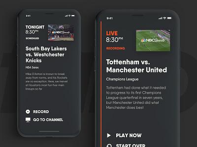 Fubo TV – Mobile typo typography iphone mobile tv tennis sports soccer nfl hockey fubo football