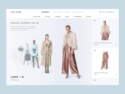 Runway Experience - Marc Jacobs web ux ui style store shop runway pdp marcjacobs fashion concept clothing buy