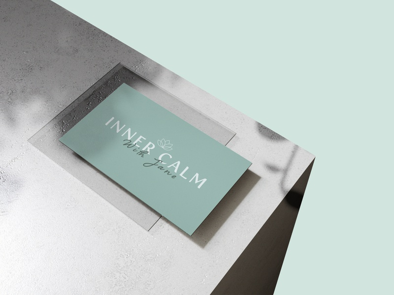 Inner Calm with Jane illustrator vector flat design business card design typography branding and identity logo branding