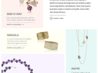 Landing page proposal landing page jewelry jewels fashion ecommerce shop minimal website web flat ux ui