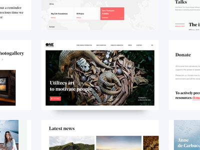One planet, One future - Site screens ui design website typography photography noprofit map