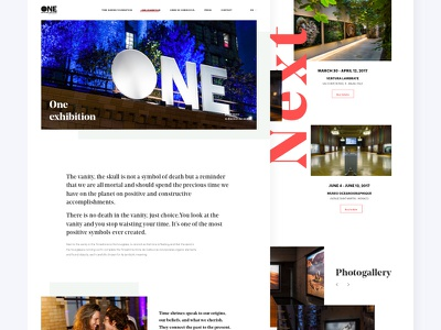 One planet, One future - The project noprofit typography photography website ui design