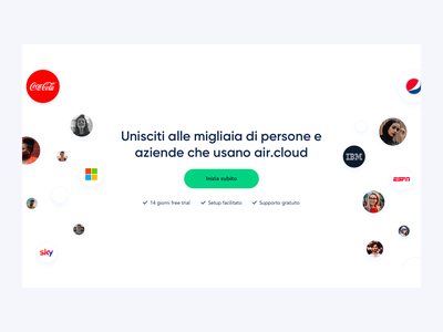 air.cloud - Landing Page Design website design typography web design product design product page ui website landing page design landingpage