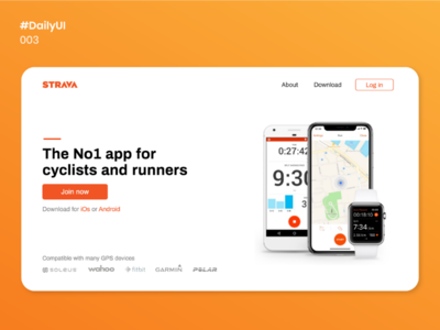 Daily UI - 003 website fitness landing page fitness app uiux ux design design uidesign daily 003