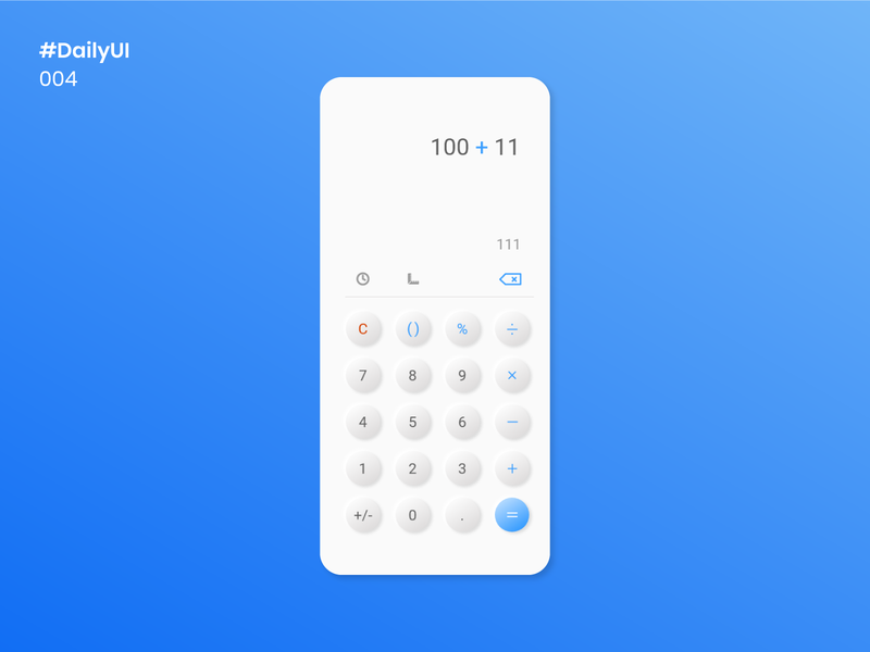 Daily UI 004 - Calculator neumorphic calculator ui calculator 004 uidesign mobile apps minimal dailyuichallenge dailyui design