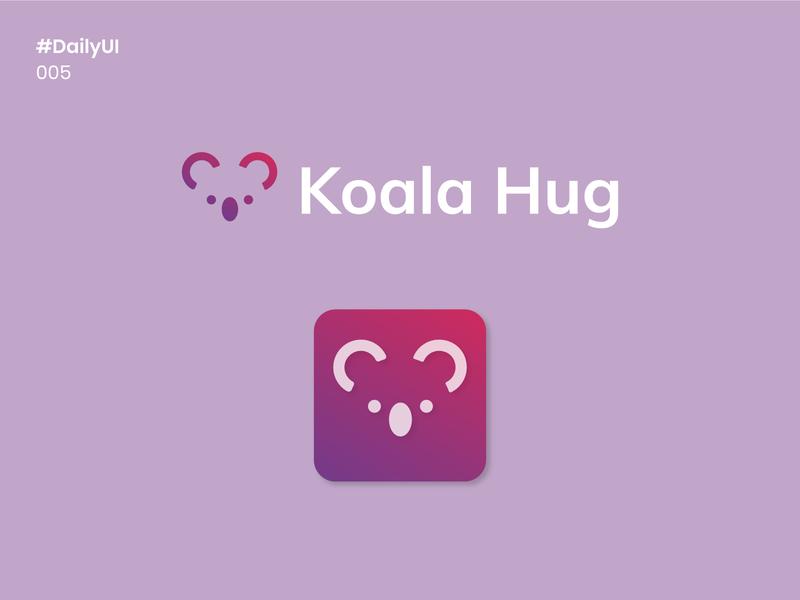 Daily UI 005 - App icon mobile app cute koala 005 app icon ux vector logo illustration dailyuichallenge dailyui design