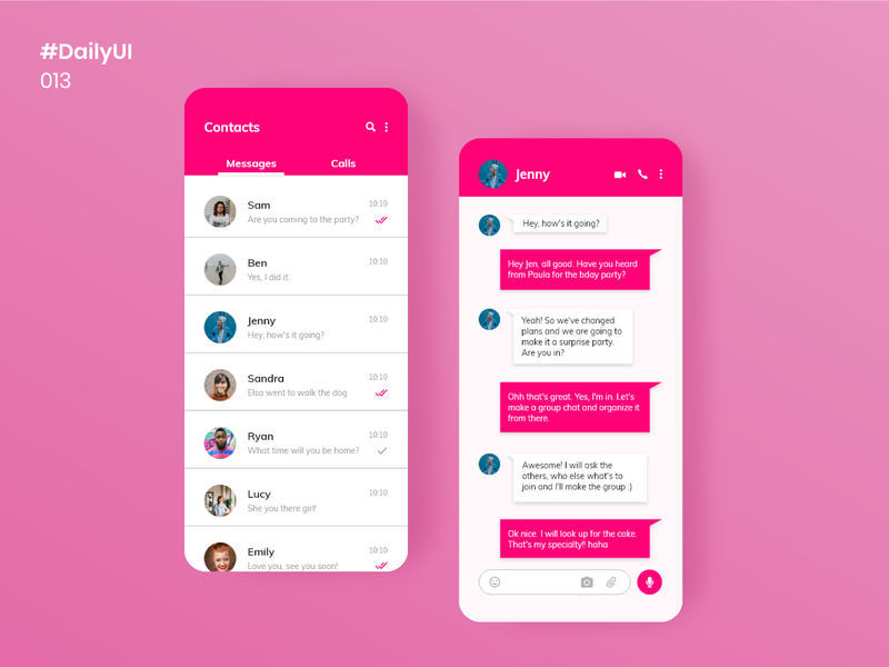 Daily UI 013 - Direct Messaging message app messaging app direct messaging ui design mobile apps ui uiux daily100challenge dailyuichallenge uidesign design dailyui