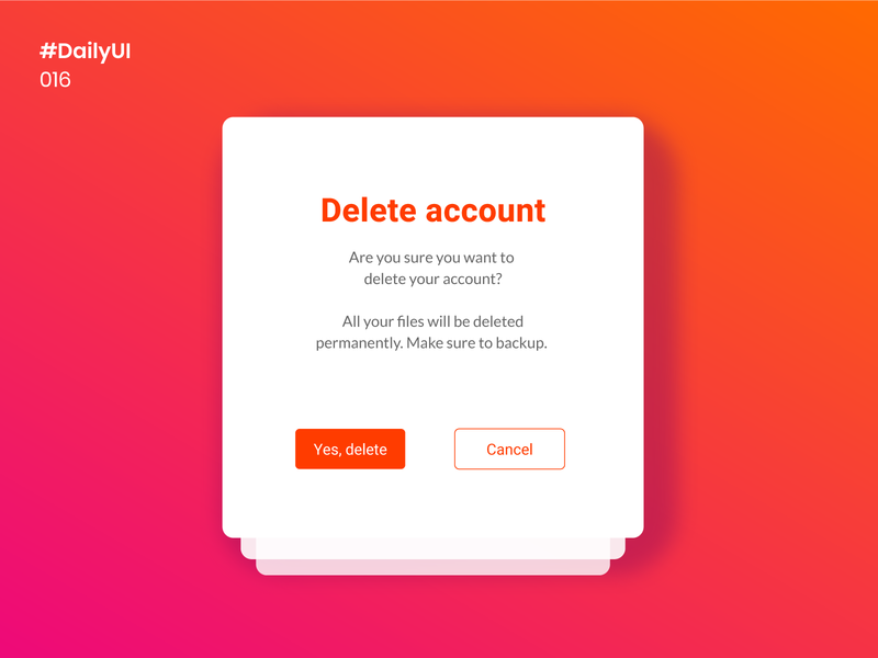 Daily UI 016 - Pop-Up / Overlay daily ui 016 016 daily 100 challenge mobile apps ux ui design ui uiux daily100challenge dailyuichallenge uidesign design dailyui