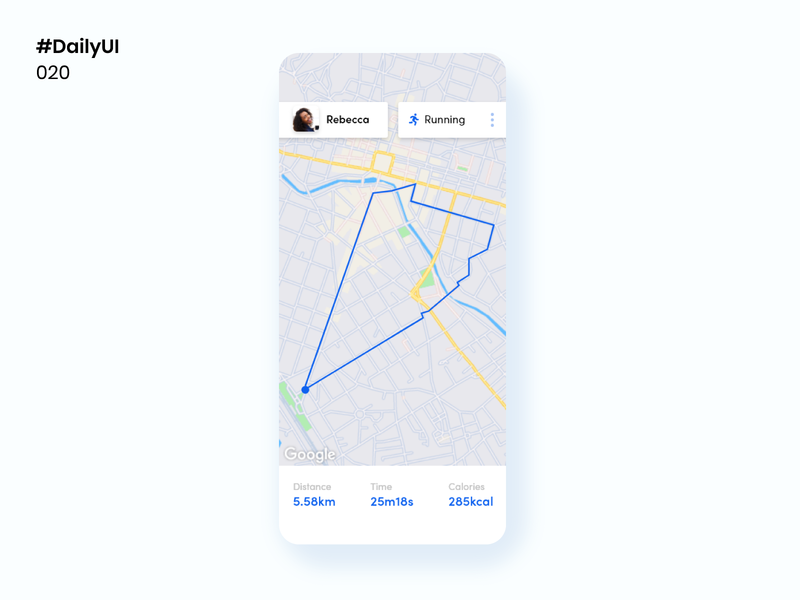 Daily UI 020 - Location Tracker location tracker daily ui 020 map daily 100 challenge mobile apps ui daily100challenge dailyuichallenge uidesign design dailyui