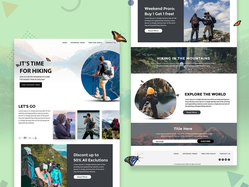 Explore and Discover the hiking experience digitally! outdoors naturephotography travel adventure mountains nature hiking design colors uiux