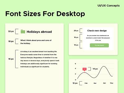 UI/UX Concept size font uiuxconcept design tip typography uiux ux ui webdesign