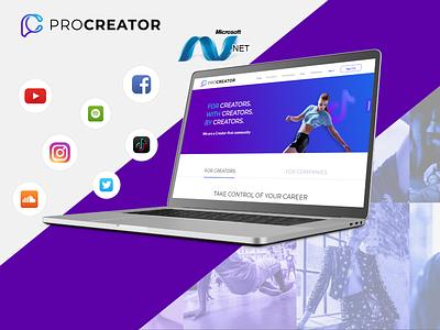 Procreator branding logo ui graphic design