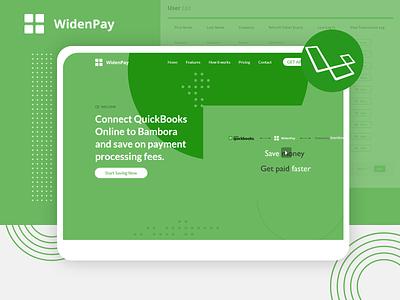 WidenPay colors custom design graphic graphic design website design developer uiux webdesign