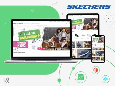SKECHERS custom design color graphic webportfolio webdesign uiux ux ui