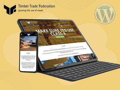 Timber Trade Federation portfolio design custom design website design uiux branding graphic design ui