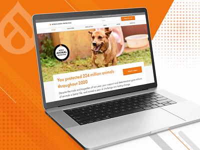 World Animal Protection development ui design branding website design custom design colors uiux graphic design ui