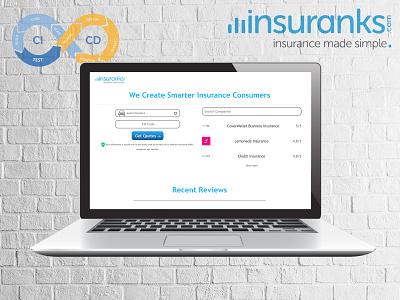 insuranks webporfolio portfoliodesign webdesign branding colors custom design ui uiux design