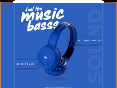 Headphone Post Design type animation illustrator art branding illustration typography vector minimal design