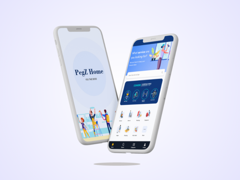 Home Services App Design ui  ux design ui design decent app layout ux ui simple design home service