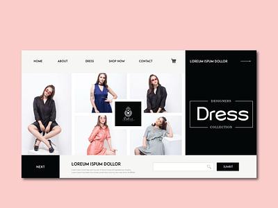 Designer Landing Page graphic website illustrator elegant clean branding clean ui ux ui design aerozef