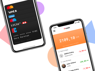 Cash Banking App ux uix ui payment money mastercard ios finance coin banking app