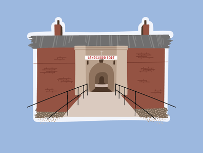 Landguard Fort Illustration, Felixstowe suffolk english heritage landguard fort landguard fort vector location illustration buildings felixstowe
