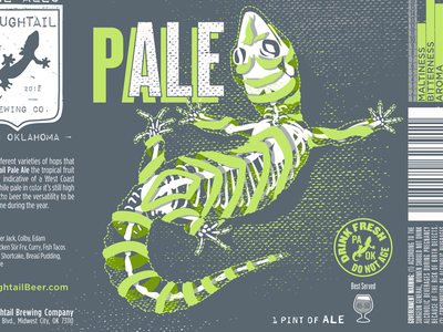 Roughtail P(ALE) skeleton roughtail roughtail brewing pale ale pale polar bear beer branding gecko illo illustration beer