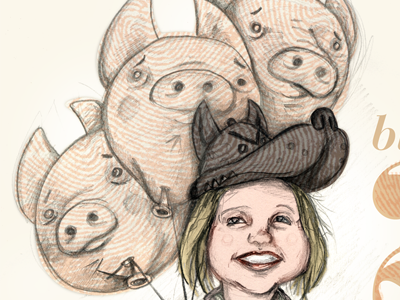 Romi and the Three Little Pigs, detail