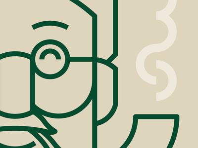 Fred illustration geometric vector branding packaging cattle brand pipe g
