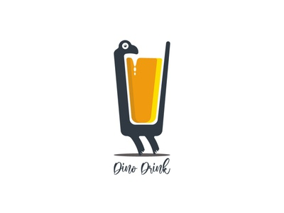 Dino Drink wild art mascot monster nature drawing reptile isolated graphic animal cartoon character icon logo design drink dino dinosaur illustration vector