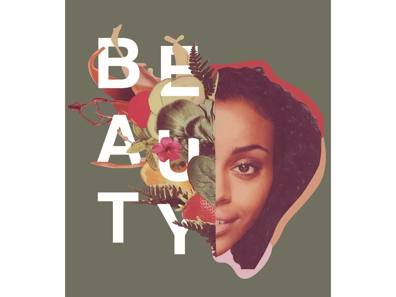 Beauty magazine design vector collage