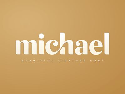 michael beautiful ligature font logo design logodesign logo inspiration feminine logo fancy branding concept branding brand identity brand design