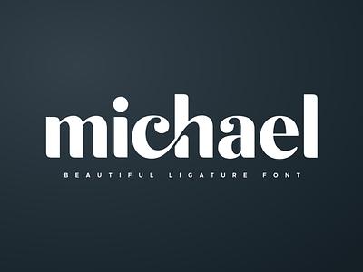 michael beautiful ligature font icon ux typography vector feminine logotype logodesign inspiration fancy brand design