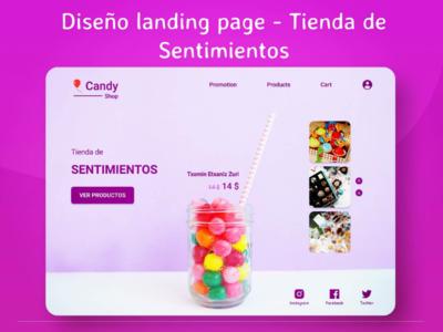 Landing page Tienda de Sentimientos