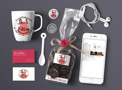 Dee's Edition food app package design branding design logo design brand identity brand design startup logo startup branding design logo branding