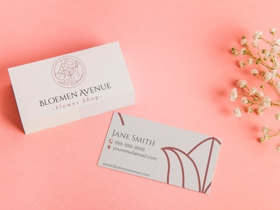 Bloemen Avenue business cards business card design business card businesscard stationary design stationery design stationary stationery design logo design branding design brand design brand identity startup logo startup branding logo branding brand florist logo