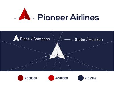 Pioneer Airlines, logo challenge icon logodesign logochallenge logo