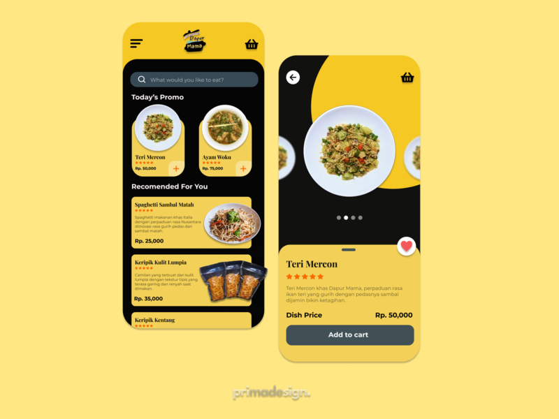 Design Mobile App for Dapur Mama Store food store food store ux ui mobile app design app