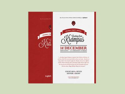Krampus Holiday Party Invitation