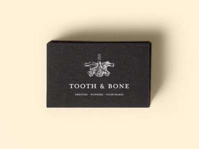 Tooth & Bone blog museum oddities curiosities anatomy tooth bone logotype logo identity branding brand