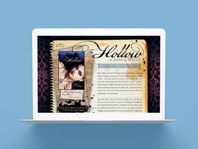 Jessica Verday Young Adult Author Website Design publishing books marketing author platform web site website writer author young adult ya