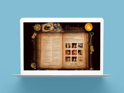 MoonaLisa Alternative eCommerce Website Design desktop web site website occult magic spiritual alchemy beauty body bath retail ecommerce