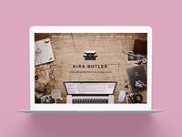 KiraButler.com 1.0 Young Adult Author Website Design