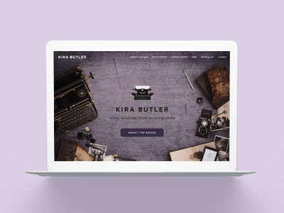 KiraButler.com 2.0 Young Adult Author Website Design young adult ya website web marketing fantasy horror genre fiction books author platform author