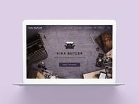 KiraButler.com 2.0 Young Adult Author Website Design