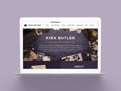 KiraButler.com 3.0 Young Adult Author Website Design young adult ya website web marketing fantasy horror genre fiction books author platform author