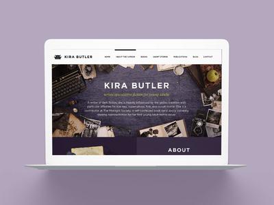 KiraButler.com 3.0 Young Adult Author Website Design young adult ya website web marketing fantasy horror genre fiction books author platform author