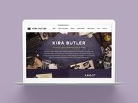 KiraButler.com 3.0 Young Adult Author Website Design
